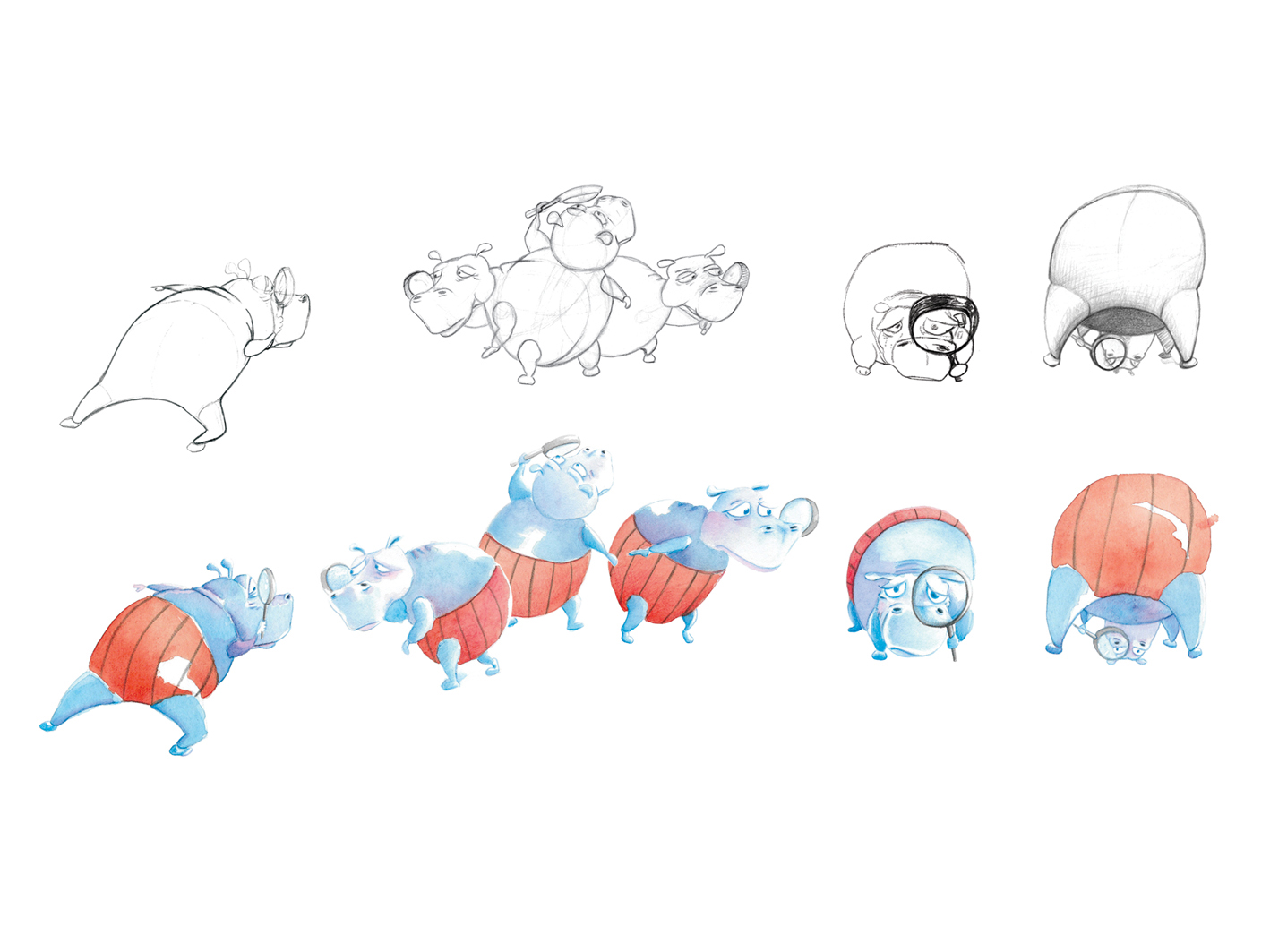 Making Of Hippo character